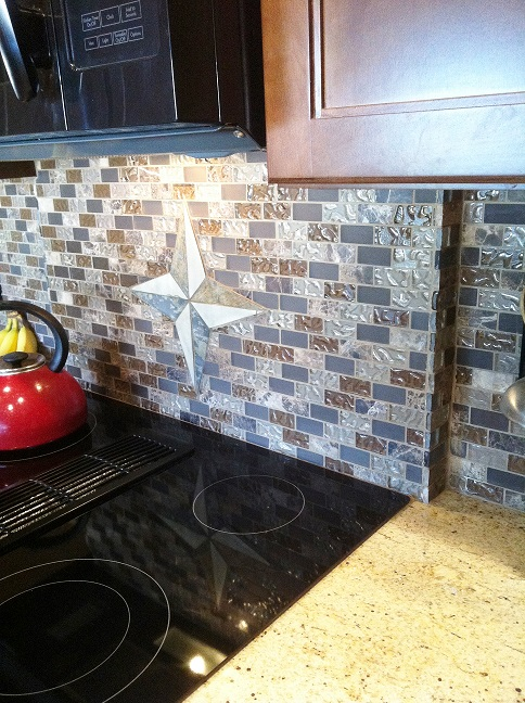 Blue and Brown Backsplash SM