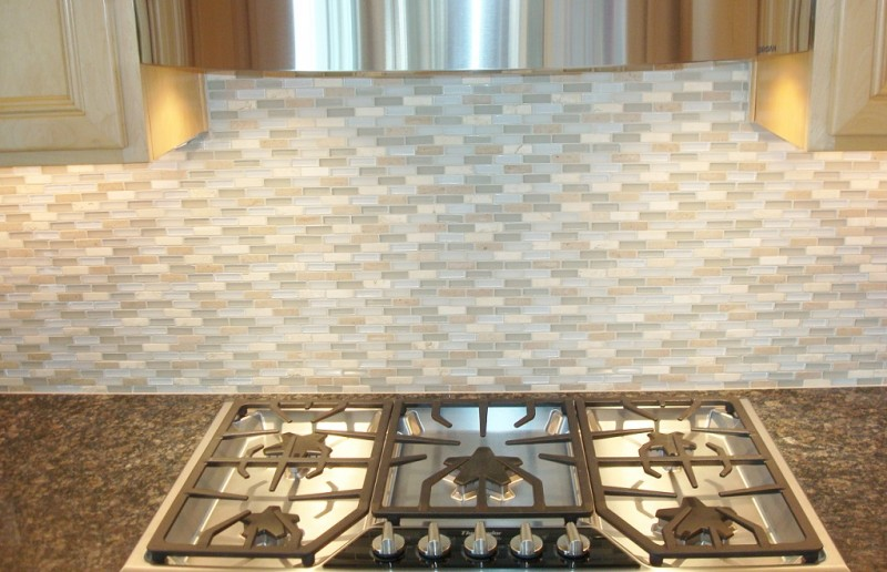 Gray Contemporary Backsplash SM