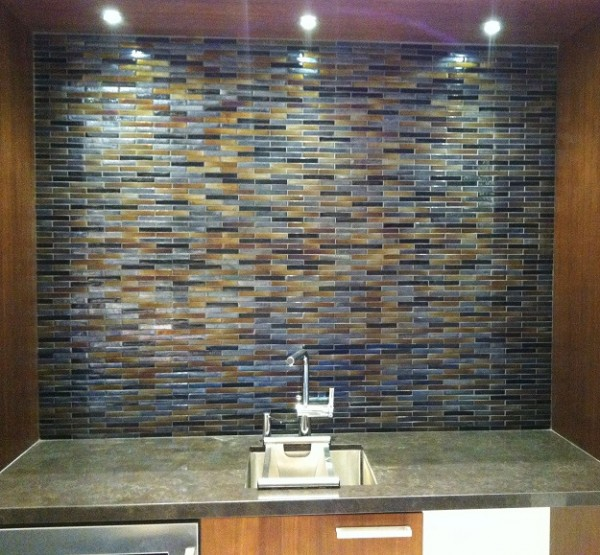 Modern Bue Brown Backsplash SM