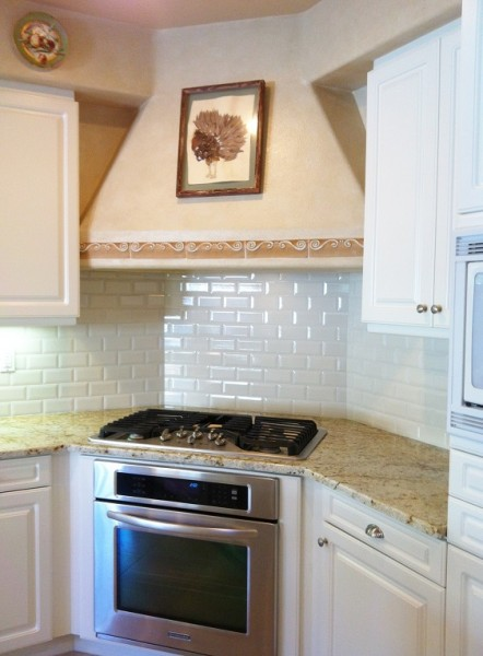 White Subway Backsplash SM